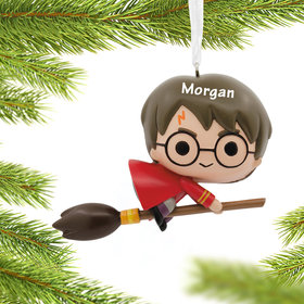 Personalized Harry Potter on Broom Christmas Ornament