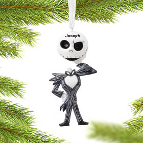 Personalized Nightmare Before Christmas Jack Skellington Holding Head Christmas Ornament