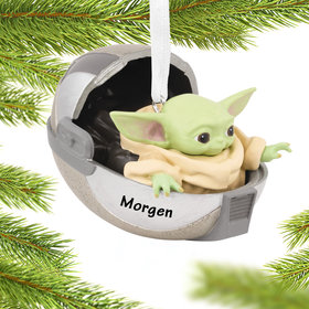 Personalized Baby Yoda Christmas Ornament