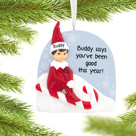 Personalized Elf On The Shelf Christmas Ornament
