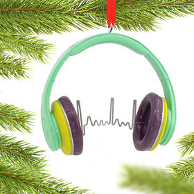 Headphones Christmas Ornament