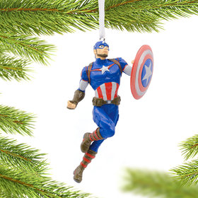 Captain America Christmas Ornament