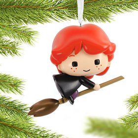 Harry Potter Ron on Broom Christmas Ornament