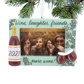 2021 Partners in Wine Photo Holder Christmas Ornament