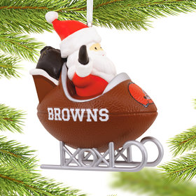 Cleveland Browns Football Sled Christmas Ornament