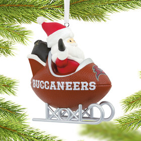 Tampa Bay Buccaneers Football Sled Christmas Ornament