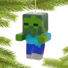 Minecraft Zombie Christmas Ornament