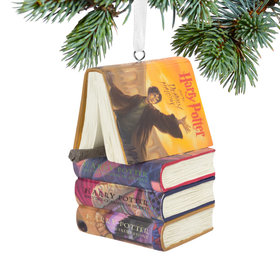 Harry Potter Books and Wand Christmas Ornament