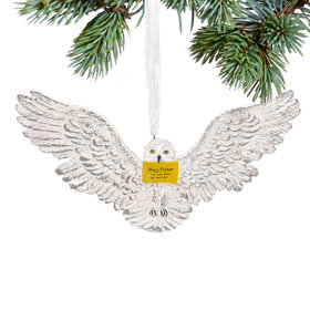Hedwig with Letter Christmas Ornament