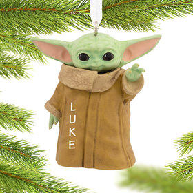 Personalized Baby Yoda The Child Standing Christmas Ornament
