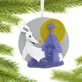 Nightmare Before Christmas Zero with Head Stone Christmas Ornament