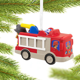 Fisher Price Firetruck Christmas Ornament
