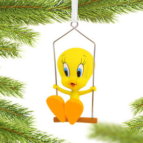 Tweety Bird in Swing Christmas Ornament