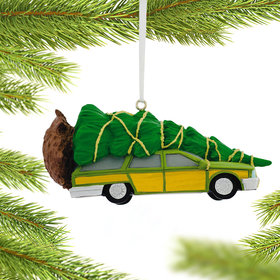 Car with Tree Christmas Ornament