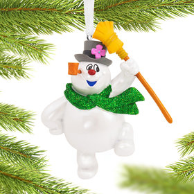 Frosty the Snowman with Broom Christmas Ornament