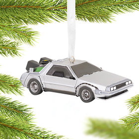 DeLorean Christmas Ornament