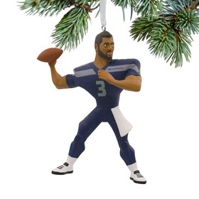 NFL Seattle Seahawks Russell Wilson Christmas Ornament