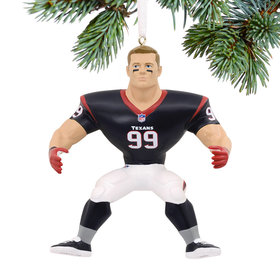 NFL Houston Texans JJ Watt Christmas Ornament