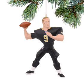 NFL New Orleans Saints Drew Brees Christmas Ornament