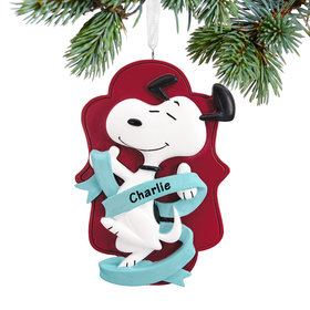 Personalized Snoopy Christmas Ornament