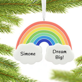 Personalized Rainbow Christmas Ornament