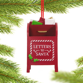 Santa Mailbox Christmas Ornament