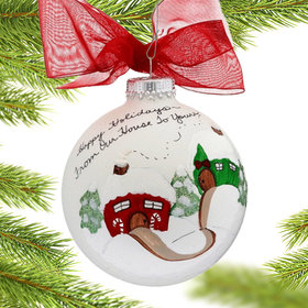 Holiday House Christmas Ornament
