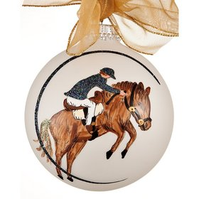 Personalized Male Equestrian Christmas Ornament