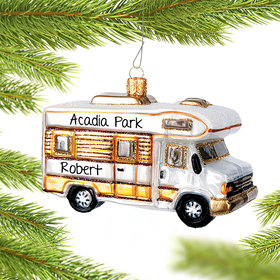 Personalized Camper Van Christmas Ornament