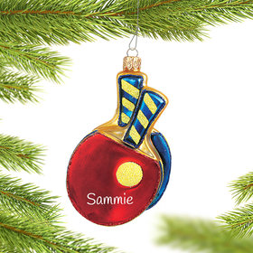 Personalized Ping Pong Christmas Ornament