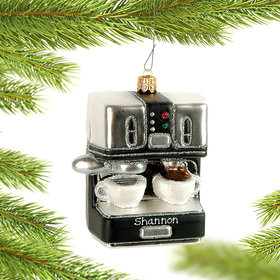 Personalized Espresso Machine Christmas Ornament