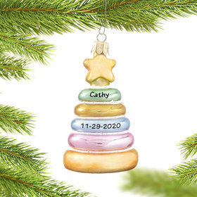 Personalized Baby Stacker Christmas Ornament