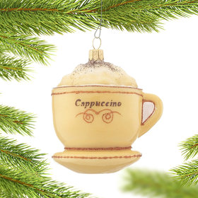 Cappuccino in a Teacup on a Saucer Christmas Ornament
