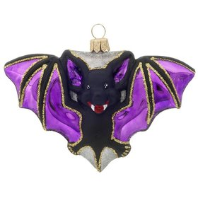 Personalized Halloween Bat Christmas Ornament