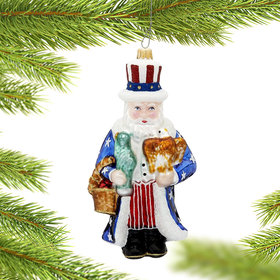 American Santa Christmas Ornament