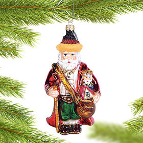 Personalized German Santa Christmas Ornament