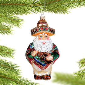 Mexican Santa Christmas Ornament