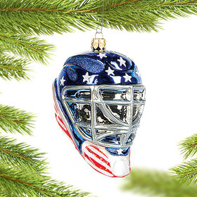 Personalized Goalie Mask Christmas Ornament