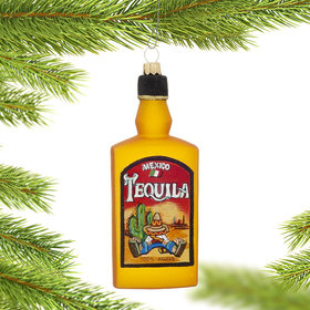 Tequila Bottle Christmas Ornament