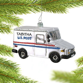 Personalized Mail Car Christmas Ornament