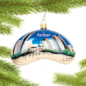 Personalized Chicago Bean Daytime Scene Christmas Ornament