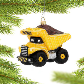Dump Truck Hauling Dirt Christmas Ornament