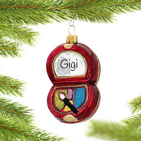 Personalized Makeup Eye Shadow Compact Christmas Ornament
