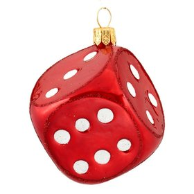 Personalized Red Dice Christmas Ornament