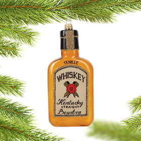 Personalized Bourbon Bottle Christmas Ornament
