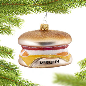 Personalized Egg McMuffin Christmas Ornament