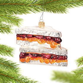 Peanut Butter & Jelly Sandwich Christmas Ornament