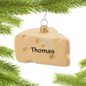 Personalized Swiss Cheese Christmas Ornament