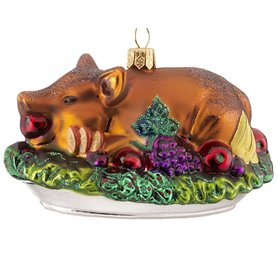 Personalized Roasted Pig Christmas Ornament