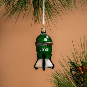 Personalized Green Egg BBQ Grill Christmas Ornament